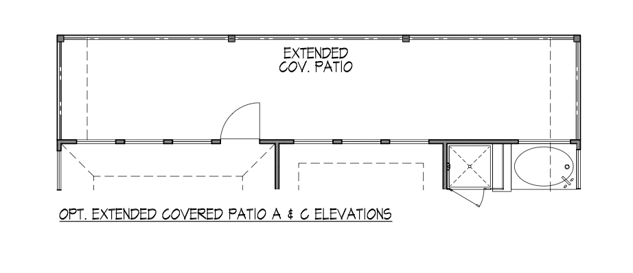 Covered Patio A & C Elevations