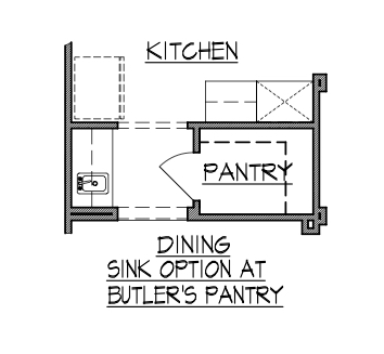 Dining Sink Option at Butlers Pantry