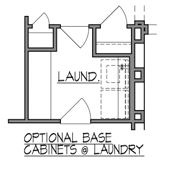 Base Cabinets at Laundry