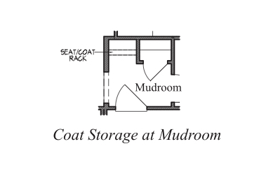 Coat Storage at Mudroom