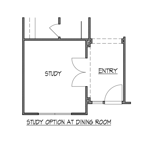 Study Option at Dining Room