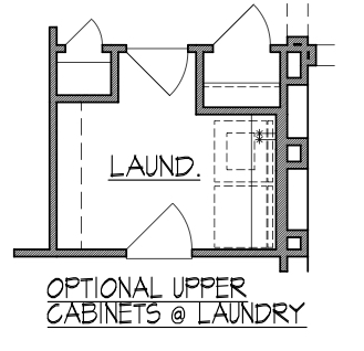 Upper Cabinets at Laundry